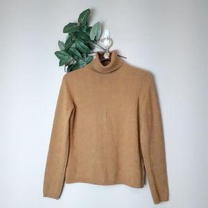 Vintage textured mustard yellow turtleneck sweater